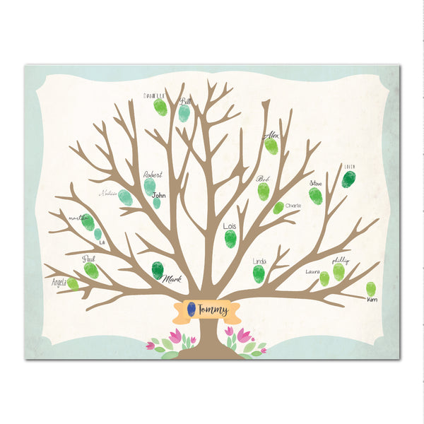 Canvas or Print, Family Tree- Custom, Add your family fingerprints names and that's it!
