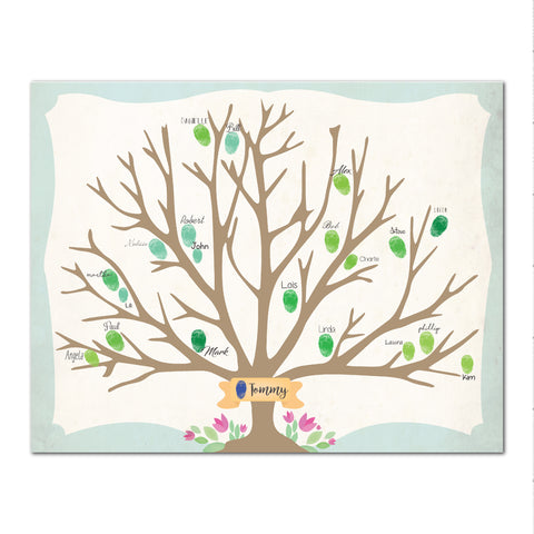 Canvas or Print, Family Tree - Custom, Add your family fingerprints names and that's it!