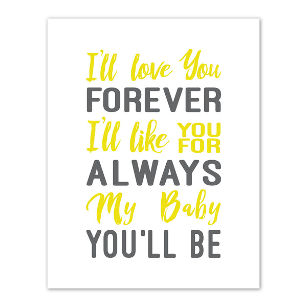 Print or Canvas, I'll Love You Forever