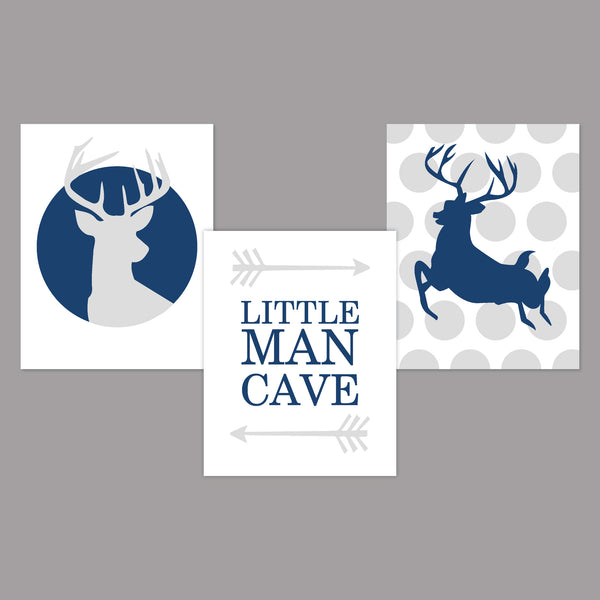 Canvas or Print, Little Man Cave - Deer Antlers