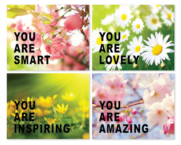 Print or Canvas,  Collection You Are in Flowers Photos, Set Of 4