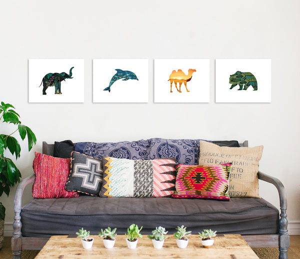 Habitat Animals Collection Four 11x14 Wall Art Prints
