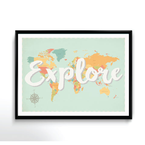 Explore Map Available in Different Sizes