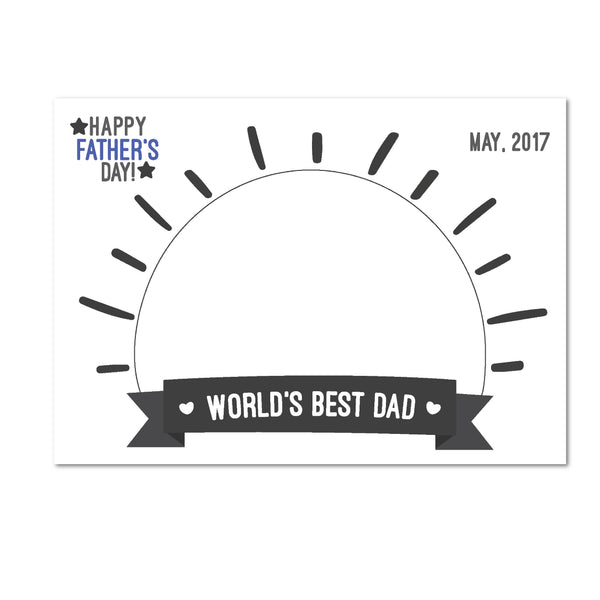 World's Best Dad!, Happy Father's Day, Father's day gift, Horizontal drawing