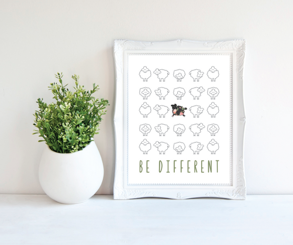 Print or Canvas, Be Different Sheep