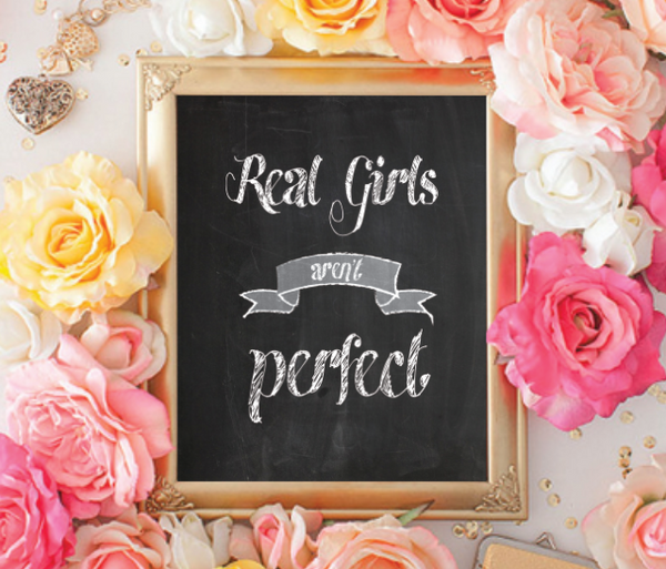 Real Girls Aren't Perfect, Canvas or Print