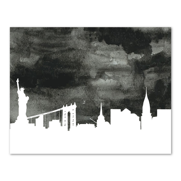 Canvas or Print, New York City Skyline - Black