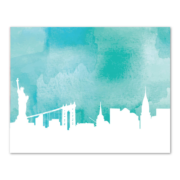 Canvas or Print, New York City Skyline - Blue