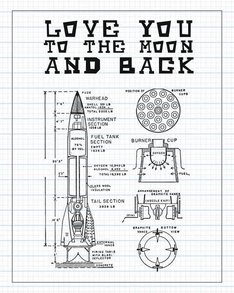 Love You To The Moon And Back Sketch Print, Baby Decor, Nursery Decor, Wall Print, Nursery Art