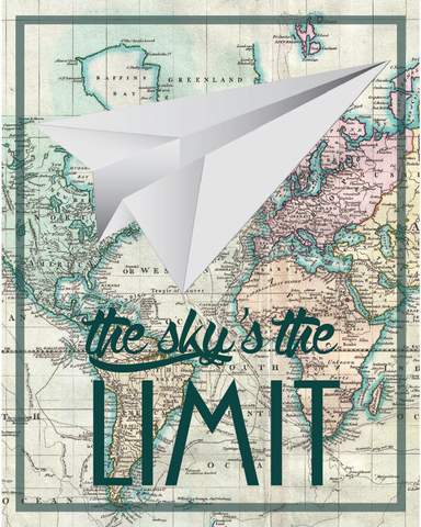 The Sky Is The Limit Print, Nursery Baby Decor, Wall Art, Nursery Decor, Baby Room