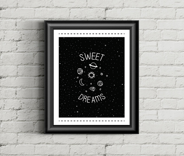 Print or Canvas, Sweet Dreams With Planets