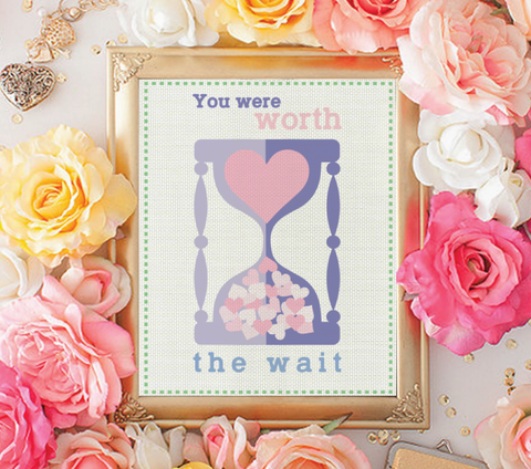 You Were Worth The Wait Print , Baby Nursery Decor, Playroom, Nursery Wall Prints