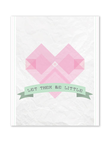 Let Them Be Little Heart, Canvas or Print, Inspirational Wall Decor