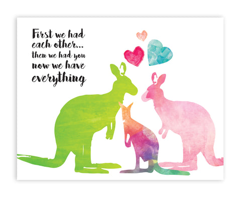 Canvas or Print, First We Had Each Other - Kangaroos