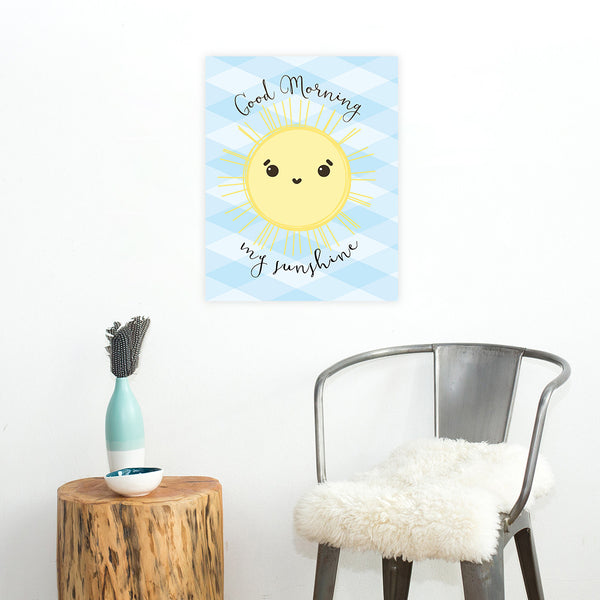 Print or Canvas, Good Morning My Sunshine Blue