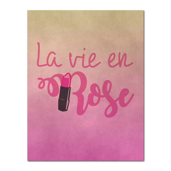 La vie en Rose,  Canvas or Print, Home Decor
