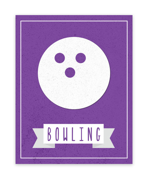 Print or Canvas, Sport Balls: Bowling, Pick Your Own Color!