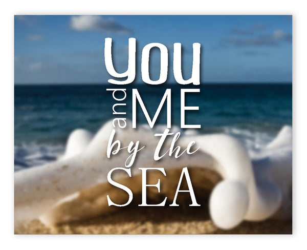 Canvas or Print, You And Me By The Sea