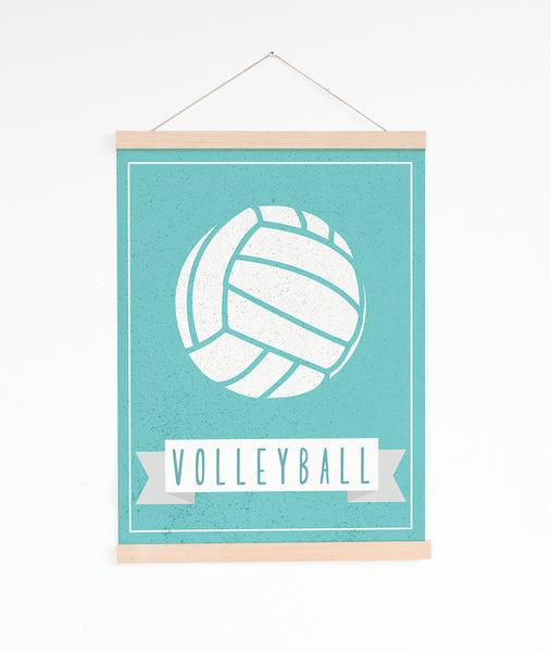 Canvas or Print, Sport Balls: Volleyballs, Pick Your Own Color!