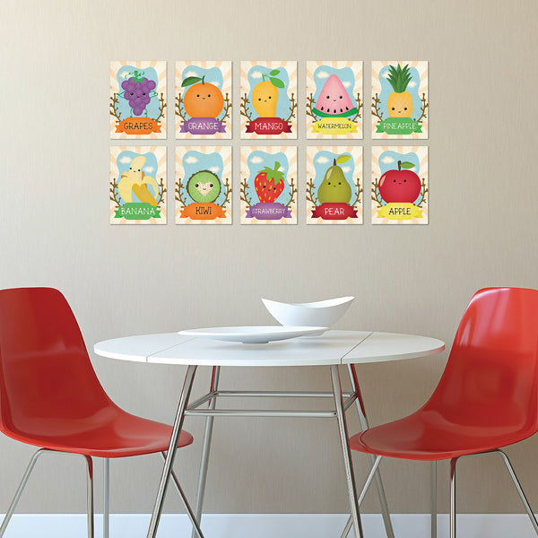 Fruits Wall Cards Set of 10