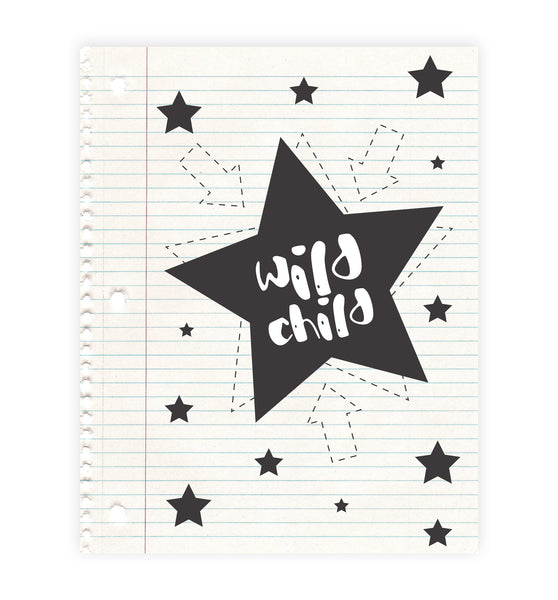 Print or Canvas, Wild Child Notepad