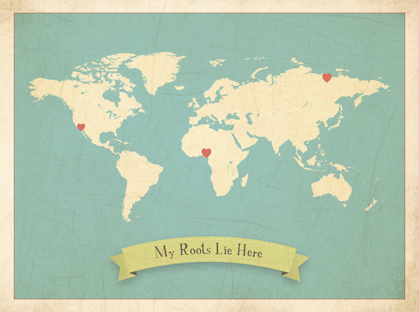 My Roots Customizable World Map