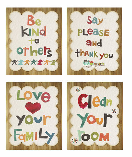 Good Manners Wall Art Collection