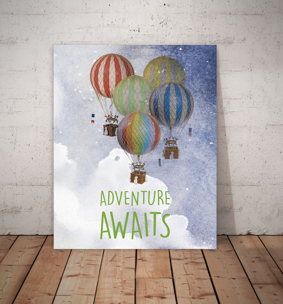 Print or Canvas, Adventure Awaits, Inspirational Art