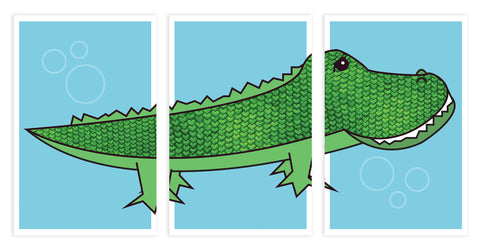 Alligator, Set of 3 Pieces