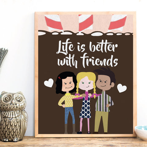 Best Friends Forever BFF, Personalized Prints, Gift for Friends
