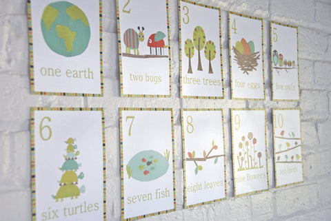 Multi Language Number Wall Art Cards English
