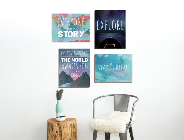 Explore Collection of Four 11x14 Wall Art Prints