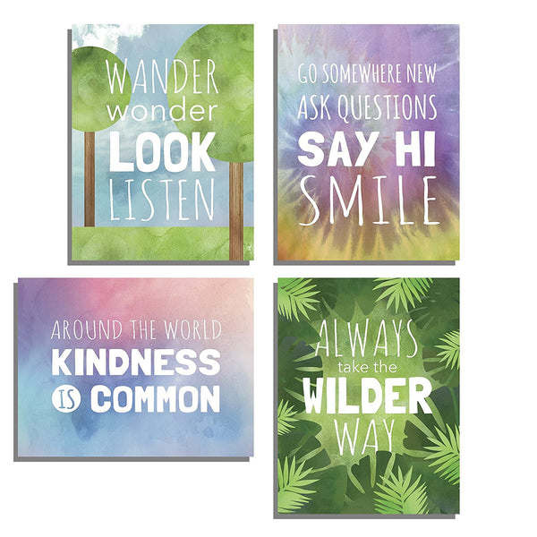 Wilder Way Collection, Four 11x14 Wall Art Prints or Canvas, Typography, Nursery Decor, Kid's Wall Art Print