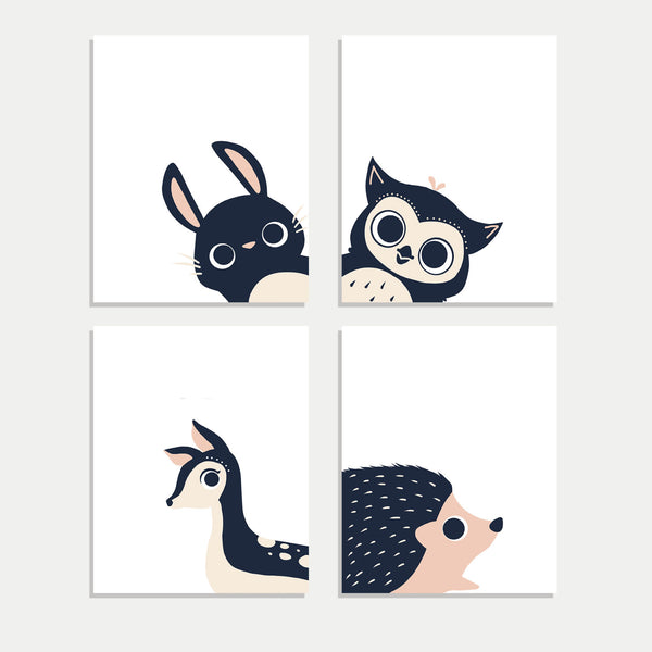 Peeking Animals Print Collection