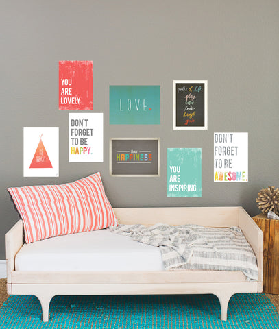The Rules of Life Mini Collection - Set of Eight 5 x 7 Wall Cards
