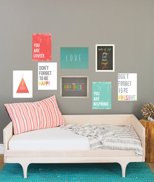 Rules of Life Wall Card Collection Set of eight 5 x 7 in