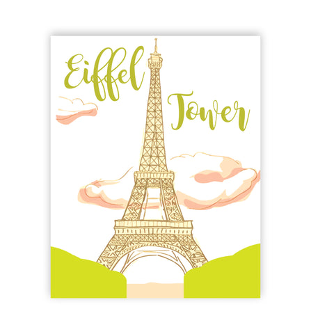 Canvas or Print, Eiffel Tower in Pink