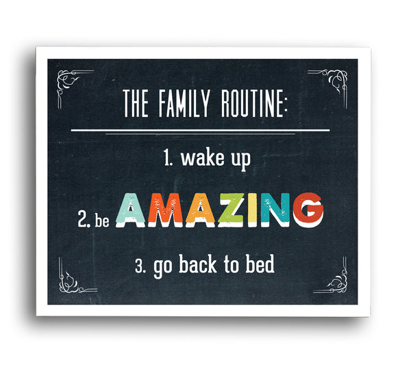Family Routine Wall Art Digital Download Print