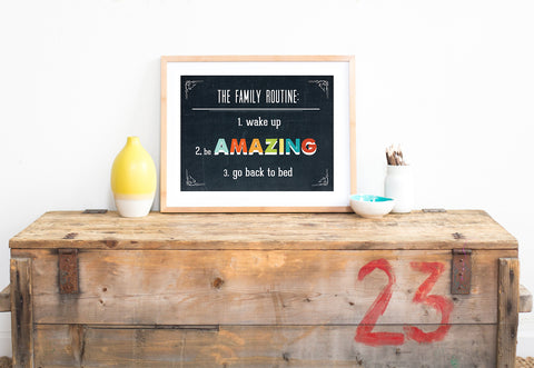 Family Routine Wall Art DIY Print