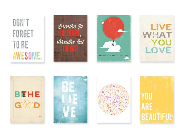Inspire Mini Collection 5 x 7 Wall Cards Set of 8