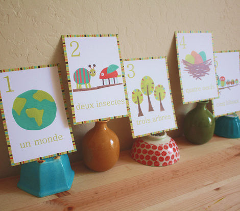 Multi Language Number Wall Cards French