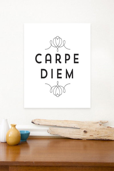 Carpe Diem 11x14, Canvas or Print, Inspirational Wall Decor