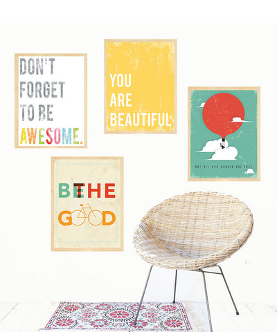 Inspire Collection, Set of Four 8x10 Wall Art Prints
