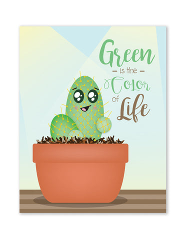 Green Is The Color Of Life, One Paper Print