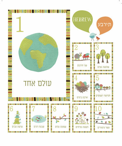 Multi Language Counting Wall Cards - Set of Ten 5 x 7 Wall Cards