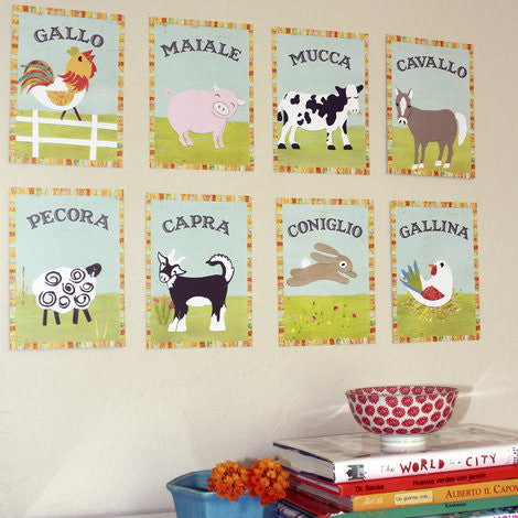 Italian Farm Animal Cards
