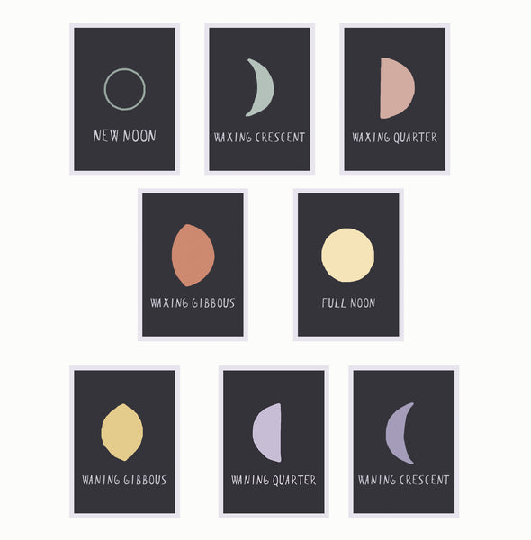 Moon Phases Home Decor Collection