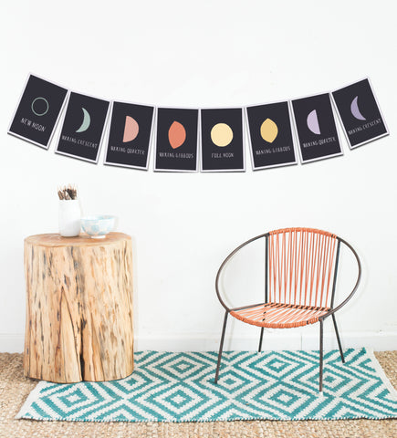 Moon Phases Wall Art Print Collection