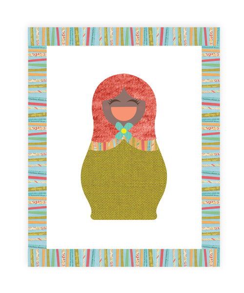 Print or Canvas, Multicultural Doll