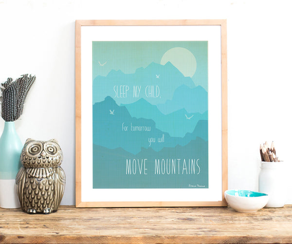 Move Mountains Wall Art DIY Print